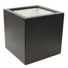 Enjoyplanter Polyester plantenbak smooth 50x50x50 cm   Antraciet-zwart