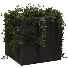 Enjoyplanter Polyester plantenbak Velvet 50x50x50 cm   Antraciet-zwart