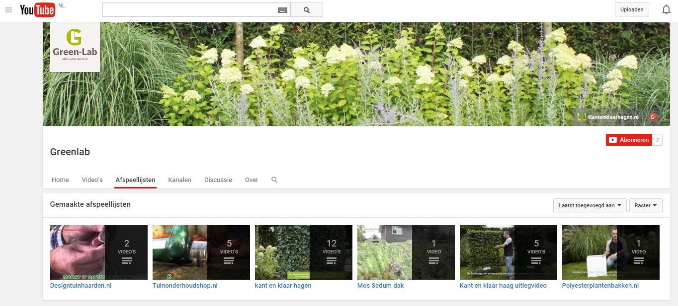 Kantenklaarhagen.nl (Green-Lab) op YouTube