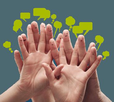 Groene vingers die vlot kunnen typen